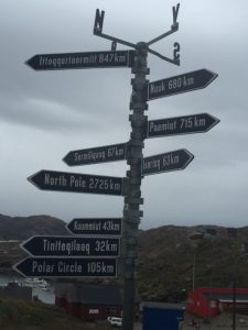 Road Sign in Greenland